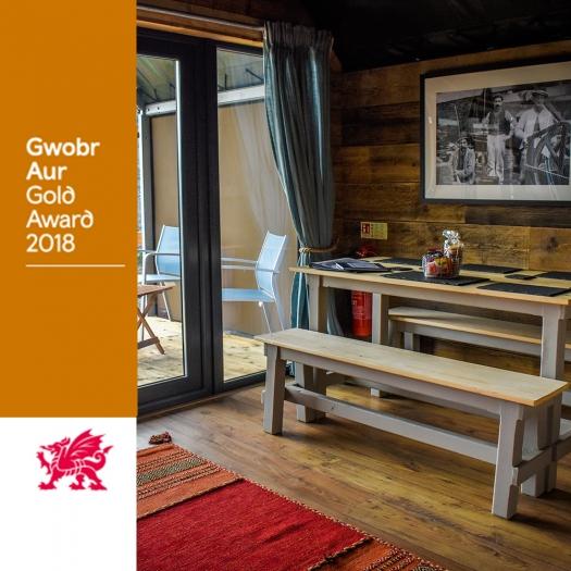 Glamping at the Slate Caverns Gets Visit Wales Gold Award