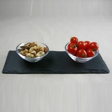 Condiment Dishes On A Slate Tray