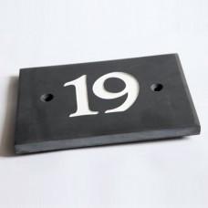 Polished Slate House Number - Numbers 10+