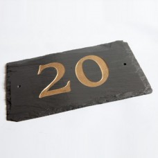 Rustic Slate House Number - Numbers 10+