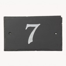 Rustic Slate House Number- Numbers 1-9