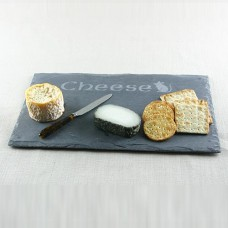 Rustic Cheese Board with a sandblasted design